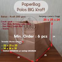 Paperbag / Tas Kertas / Paper Bag Kraft Custom Persegi Serbaguna