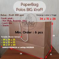 Paperbag / Tas Kertas / Paper Bag Kraft Custom Panjang Serbaguna