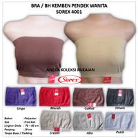 Bra / BH Kemben Wanita Basic Polos Tanpa Busa Bahan Adem Sorex 4001