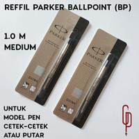 Refill Isi Ulang Pen Parker Ballpoint Ukuran Medium Original - Hitam