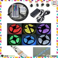 Led Strip Flexible Light Waterproof 5050 RGB 5M with 44 Key Remote Con