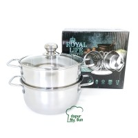 Royal Life Steamer Set 20cm / Panci Dengan Pengukus Stainless Steel