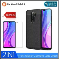 Case Xiaomi Redmi 9 Free Tempered Glass Layar Screen Guard Protector