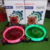 MEJEC ECLIPSE L-02 FAN CASE 12CM RING LED - MERAH&HIJAU
