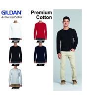 Kaos Polos GILDAN Lengan Panjang 76400 Long Sleeve Tshirt Baju Polos