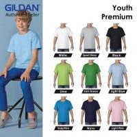 Kaos Polos Gildan Youth Premium Tshirt Baju Kaos Oblong 7600B