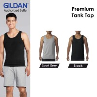 Kaos Singlet Pria Gildan Tank Top Pria Premium 76200 TankTop GYM