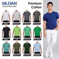 Kaos Polos Gildan Premium Cotton Tshirt Baju Kaos Oblong 76000
