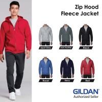 Jaket Zip Hoodie Gildan Sweater ZipHoodie ZipHood Fleece Jacket 88600