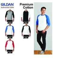 Kaos Raglan 3/4 GILDAN 76700 Raglan 3/4 Tshirt Baju Lengan 3/4 Kaos