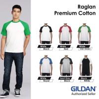Kaos Polos Gildan Raglan Tshirt Baju Kaos Oblong 76500