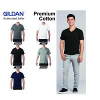 Kaos Polos GILDAN V Neck Tshirt 63V00 Kaos Oblong Kerah V Baju Polos