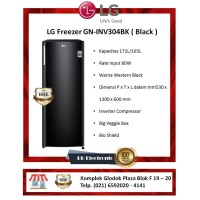 LG Freezer GN-INV304BK ( Black )
