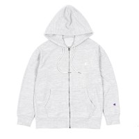 Champion Velvet Fleece Full Zip Jacket Light Grey