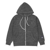 Champion Velvet Fleece Full Zip Jacket Dark Grey
