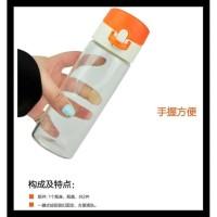 Lock & Lock One Touch Borosilicate Glass Bottle green n400 ml Botol ka
