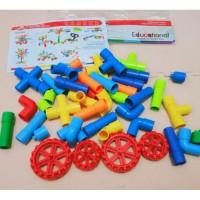 Mainan Block Brick Lego Pipa Ada Roda l mainan edukatif edukasi Block