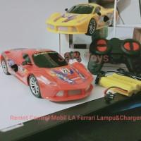 RC Mobil LA Ferrari Charger I Mainan anak mobil remot control Lampu