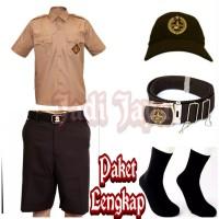 Set Seragam Pramuka SD Baju Pendek Celana Pendek