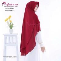 Khimar Aisyah Maroon by Myfanna