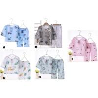 Setelan Piyama Anak Bahan Cotton Silk / Set Baju Dan Celana Anak