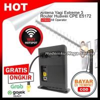 Paket Hotspot Home Router Huawei CPE E5172 & Antena Yagi Extreme 3