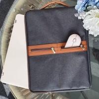 Tas laptop handle leather/softcase laptop