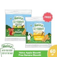 HEINZ Apple Biscotti 60Gr - Free Banana Biscotti 60Gr