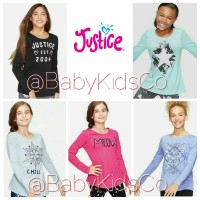 ORIGINAL BRANDED Kaos Justice Tee anak - tshirt justice girl gap kids
