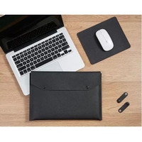 Tas Laptop Softcase Sleeve 3in1 PU Leather Size 13 - 14 inch