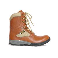 Sepatu Pria Boot Safety Tactical Boot Kulit Asli Fordza DP.086 - Tan, 42