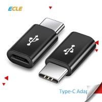 ECLE Adapter Converter Micro USB Female to Type C Male Konektor Mini