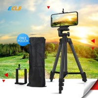 ECLE Tripod HP Camera Extendable Portable Stand + Phone Holder - Black