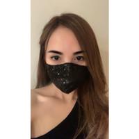 ICONS Sateen Silk Sequin Masker
