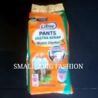 lifree celana pants ekstra serap L 8 XL 6 L8 XL6