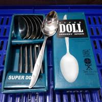 SENDOK MAKAN GARPU MAKAN SUPER DOLL STAINLESS STEEL ASLI ORIGINAL MERK