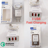 Quick Charging Samsung Qualcomm Charger 3.1A 3 Port USB