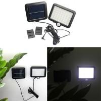 Lampu tenaga surya otomatis 56 LED dinding outdoor PIR 3 Mode