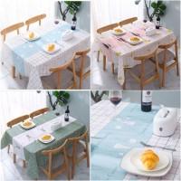 Nordic Style Waterproof Table Cloth / Taplak Meja Makan PEVA Anti Air