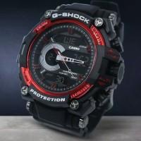 Jam Tangan G SHOCK Dual Time Anti Air Multifungsi - Black Merah