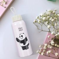 MINISO Botol Minum Air Kaca We Bare Bears Karakter Lucu Bottle 300ml