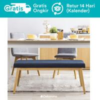 Dekoruma Fuji Kursi Panjang Bench Sofa Minimalis Kayu Scandinavian - Biru