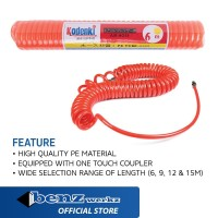 Selang Angin Kompresor PE / Spiral Hose HEAVY DUTY Kodenki by BENZ - 6m