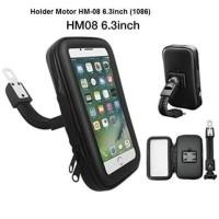Holder HP Motor Spion Waterproof Bag/Anti air hujan copet Bracket hm08