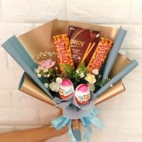 buket bunga/buket coklat/buket snack/buket wisuda/buket silverqueen