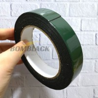 Double Tape Busa Foam Tape Tebal Selotip Isolasi Busa Hijau Sekelas 3M