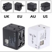Adaptor Universal travel adaptor multifungsi 2 USB Port Best Quality