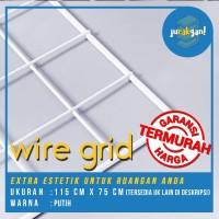 Wiremesh /wire grid estetik untuk hiasan dinding kamar uk 115x75