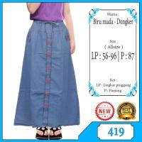 Rok Panjang Jeans Anak - Rok Anak Perempuan Usia 6-10 Tahun