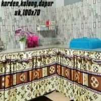 Hordeng kolong dapur motif lv 70x100 cm